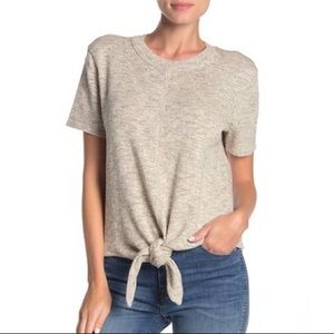 Madewell Knot-Front Sweater T-Shirt - Sz Large